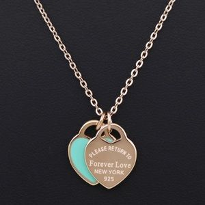 Forever Love Heart Silver Necklace New
